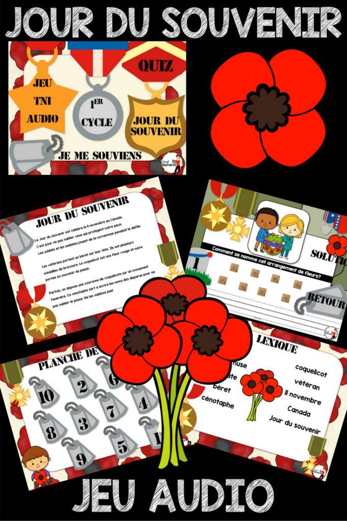 Jour du souvenir au Canada 11 novembre