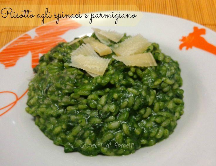 ricetta risotto agli spinaci e parmigiano