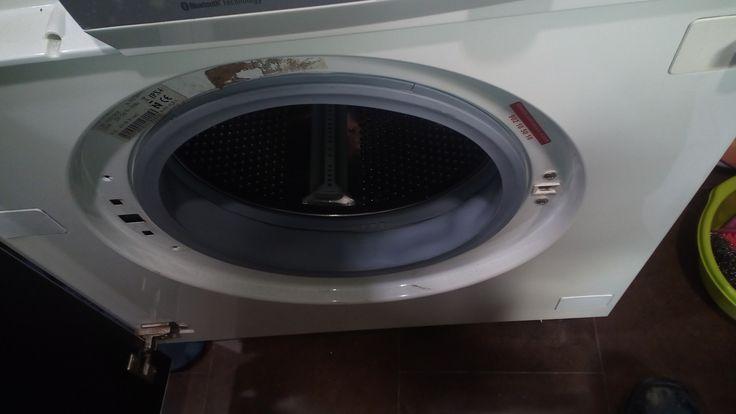 Cambio De Goma Escotilla En Lavadora Reparacion