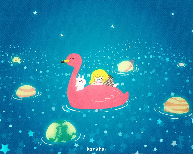 http://www.kanahei.com/gallery/宇宙遊泳/