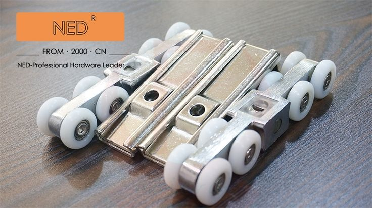 19.58$  Buy here - http://aliih4.shopchina.info/go.php?t=32505733246 - NED 8 wheels Sliding Door Sliding door roller set Hanging door rollers wood door hanging wheel  #buymethat