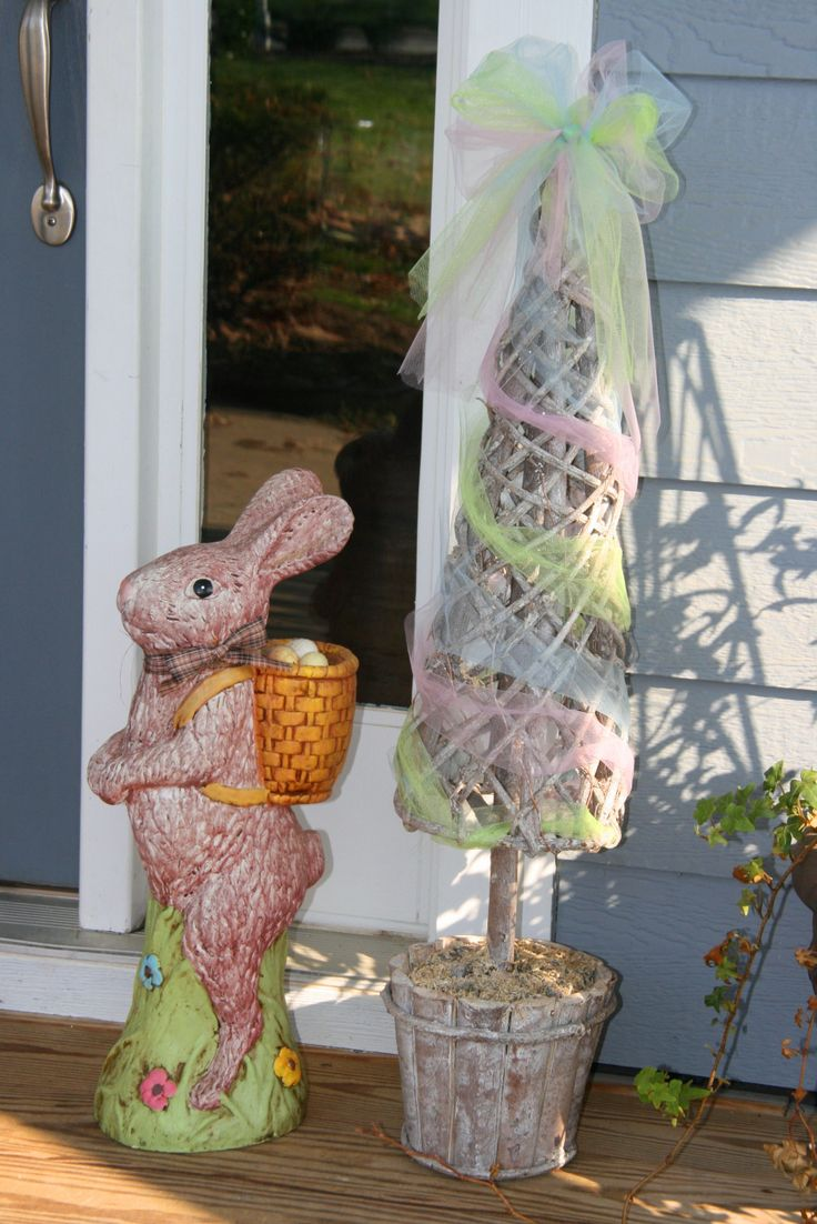 Easter decoration outdoor - Easter Decor Front Porch Spring