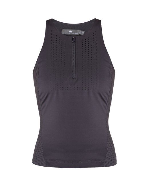 a3d0a28ca9ed4 Adidas By Stella McCartney Run mesh-insert performance tank top ...