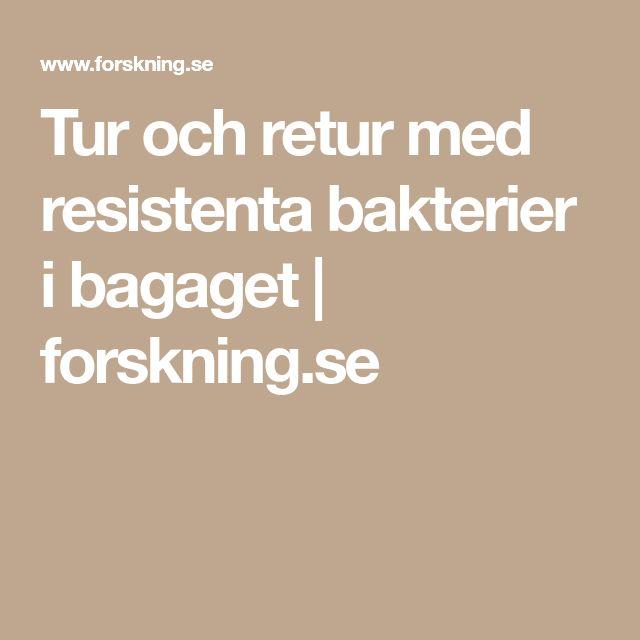 Tur och retur med resistenta bakterier i bagaget   forskning.se