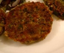 Recipe Crumbed lentil and chickpea patties by aloo - Recipe of category Main dishes - vegetarian