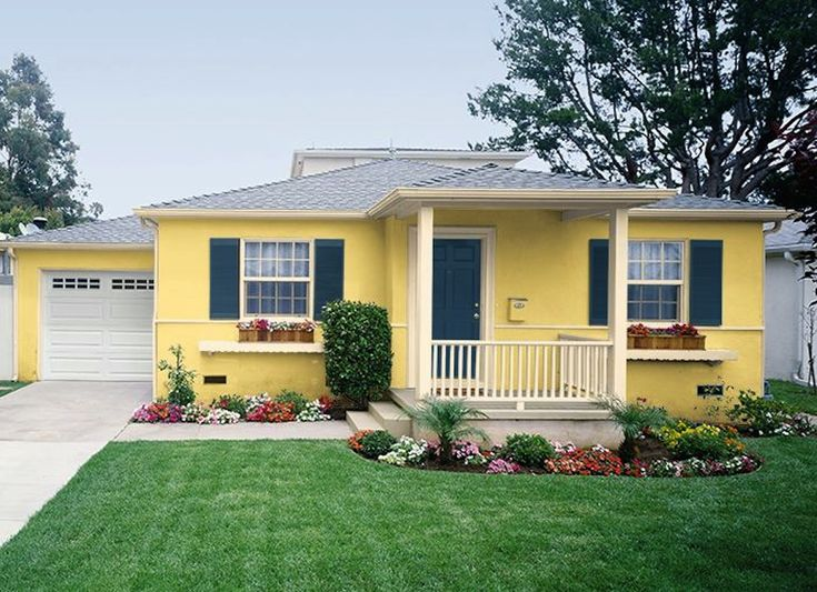 Best 25 yellow house exterior ideas on pinterest yellow houses house shutter colors and - How to choose paint colors for house exterior property ...