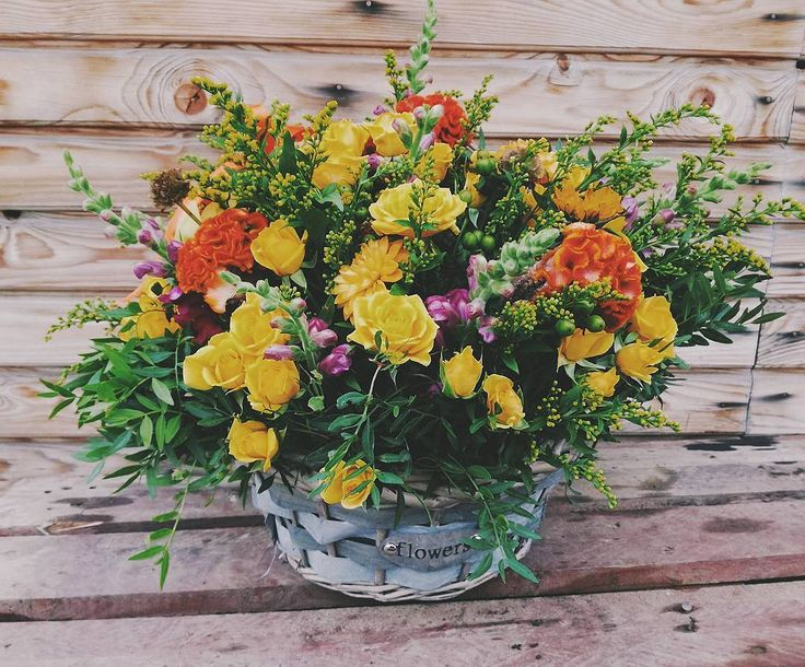 Fall colors in a great flowers arrangement!