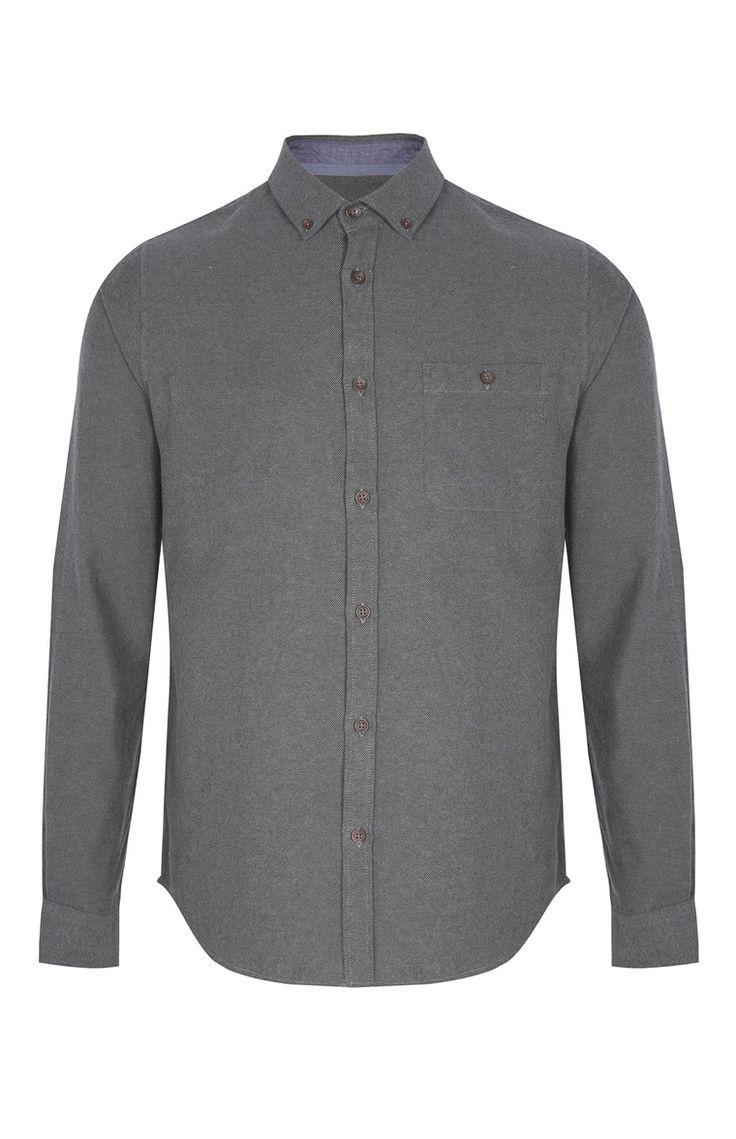 Primark - Camisa de flanela cinzento