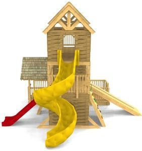 Alpine Hinterhof-Spielplatz-Plan   – Build A Playhouse