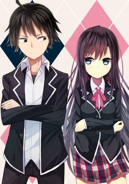 Tags: Anime, Crossed Arms, Open Jacket, Pixiv Id 1800216, Yahari Ore no Seishun Love Come wa Machigatteiru, Yukinoshita Yukino, Hikigaya Hac...