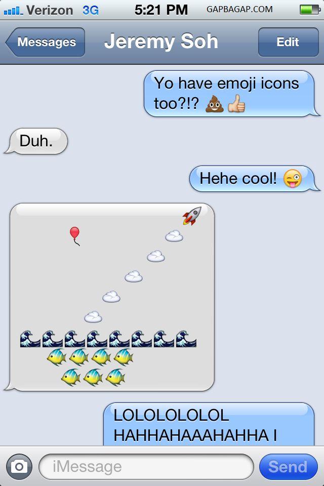 Hilarious Emoji Conversation LOL