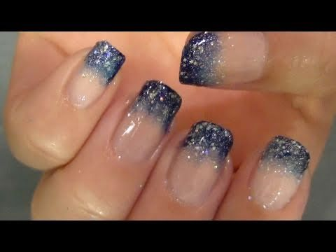 Starry Night NailsNails Style, Nails Design, Night Nails, Nail Tutorials, Gradient Nails, Chic Nails, Starry Nails, Starry Nights, Nails Tutorials