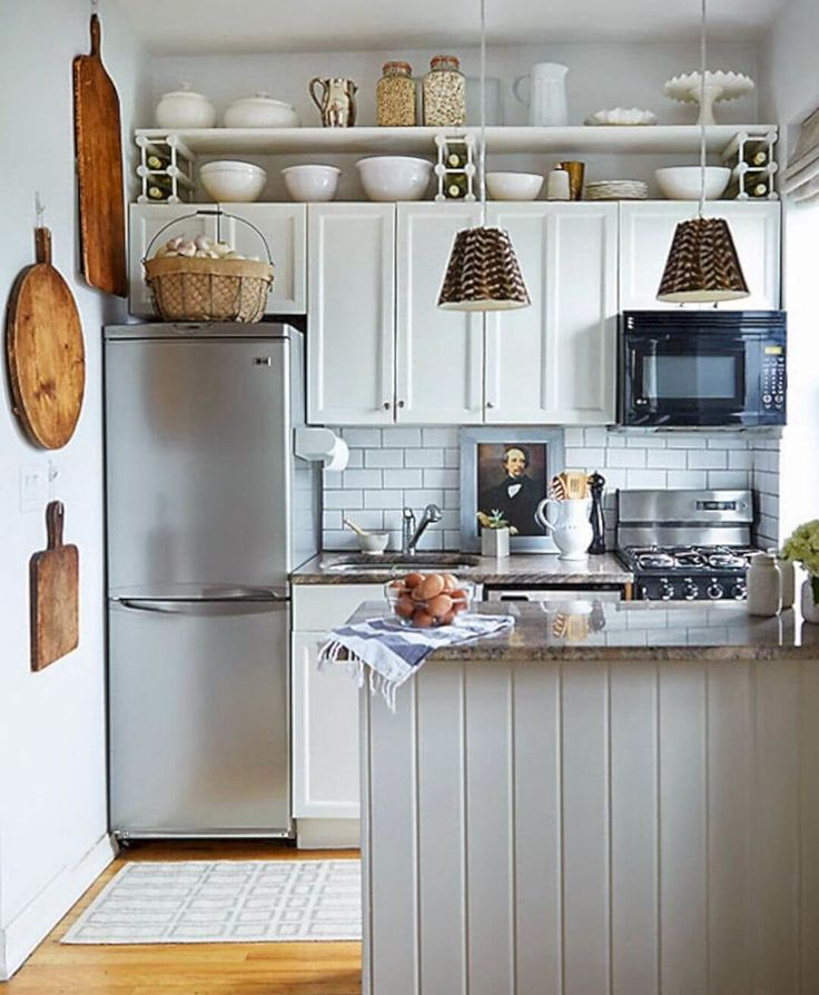 Gentil 39 Exceptional Ways To Improve And Decorate With A Very Small Kitchen Design