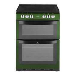 New World NW601EDO 60cm Wide Double Oven Electric Cooker In Metallic Green