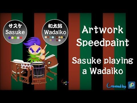 Artwork Speedpaint - Sasuke playing a Wadaiko - YouTube
