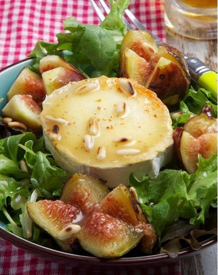 Receta Ensalada de Queso de Cabra con Higos y Vinagreta de Miel y Mostaza - Ybarra en tu cocina