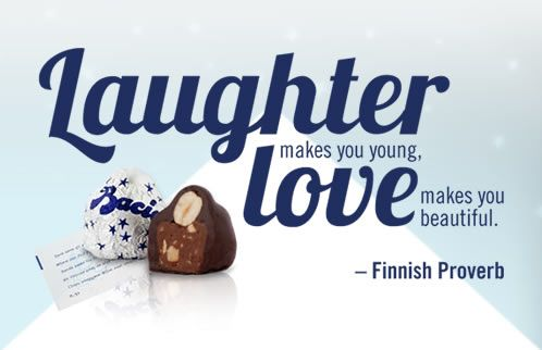 Baci chocolates with hazelnuts and love notes...delicious!