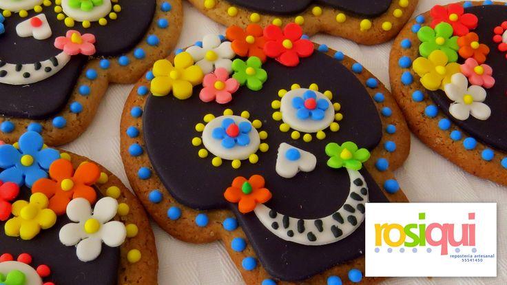 Calaveras cookies, galletas de calaveras
