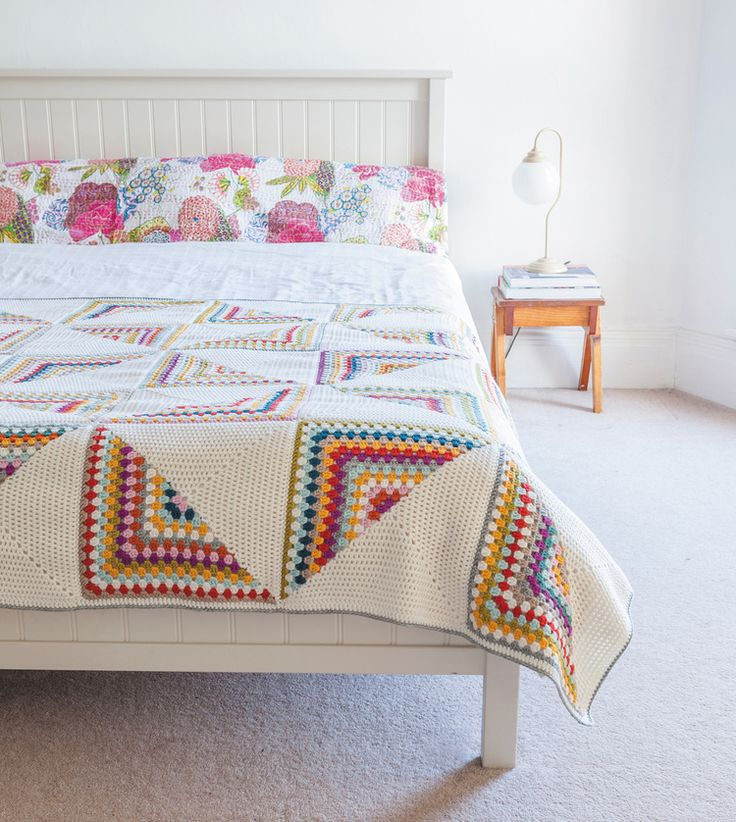 Granny Chic Pinwheel Blanket from Crochet Home by Emma Lamb | Crochet designs and styling by Emma Lamb / Photography by Jason M Jenkins