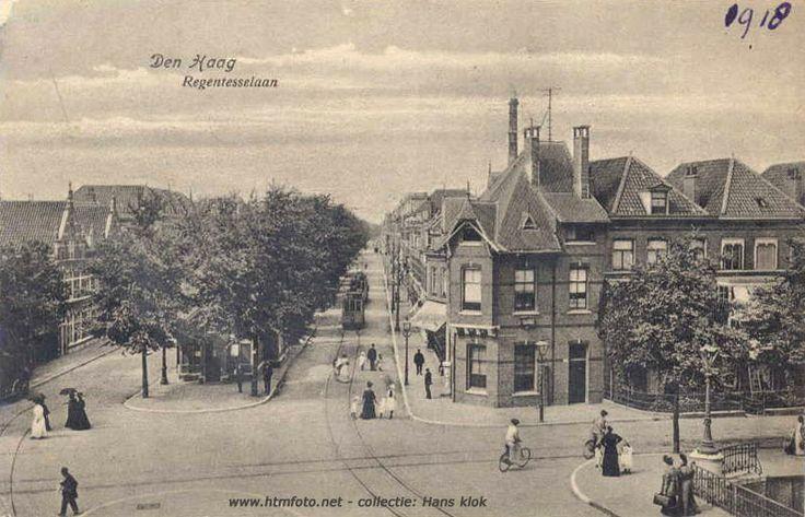 Regentesselaan in 1918 gezien vanaf de Loosduinseweg