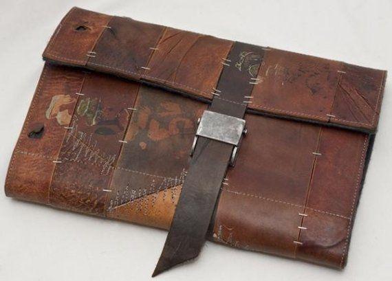 Leather mac book case.