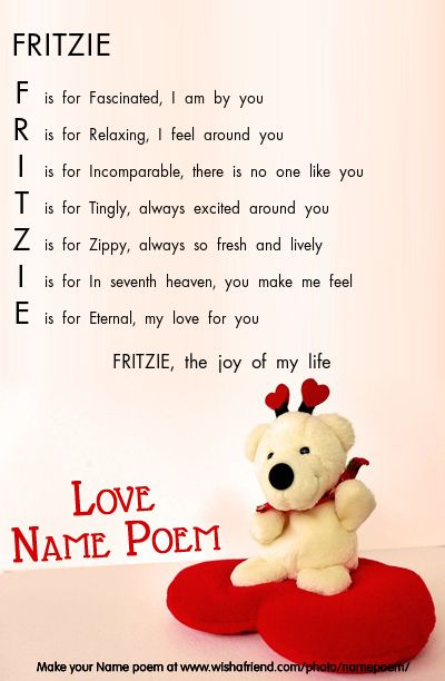 Acrostic Name Poem For Your Love