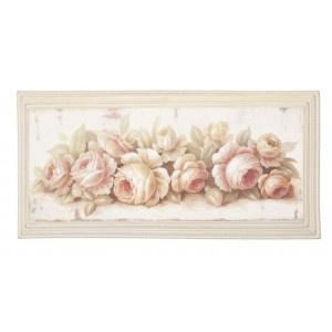 Cuadro con rosa, ideal para dormitorio Medidas: 55 * 26 cm