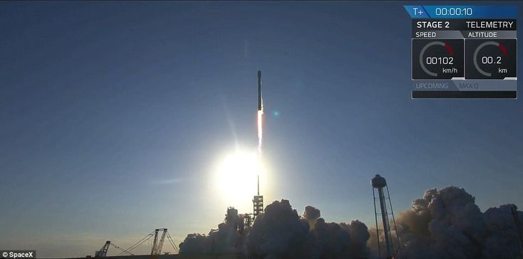SpaceX to launch a 'used rocket' into space today | Daily Mail Online