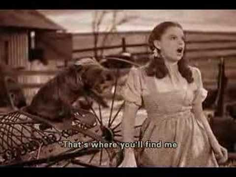 "Over The Rainbow, Judy Garland (1939) - ""Over the Rainbow"" (often referred to as ""Somewhere Over the Rainbow"") is a classic Academy Award-winning ballad song with music by Harold Arlen and lyrics by E.Y. Harburg.  It was written for the 1939 movie, The Wizard of Oz, and was sung by actress Judy Garland in her starring role as Dorothy Gale.  Over time it would become Garland's signature song."