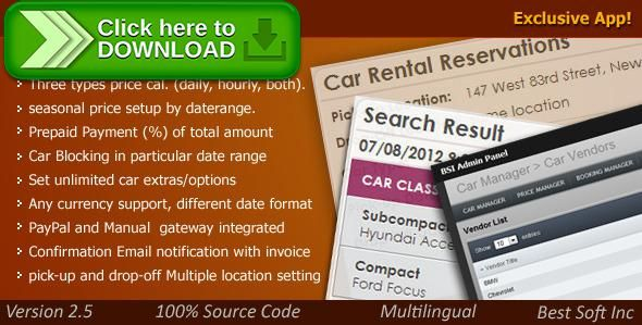[ThemeForest]Free nulled download Car Rental System from http://zippyfile.download/f.php?id=40000 Tags: ecommerce, bike rental, booking, bus rental, car, car booking system, car manager, car renal, car rental script, car rental system, car reservation system, car script, car selling, rent a car, Ski Hire, truck rental