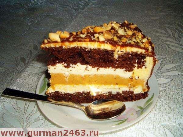 """Торт """"Сникерс""""– потрясающий десерт для праздника. Много орехов, сгущенка и ванильный пудинг - предлагаю пошаговый рецепт торта""""Сникерс"""". Для приготовления вам понадобятся такие ингредиенты:– Сметана …"""