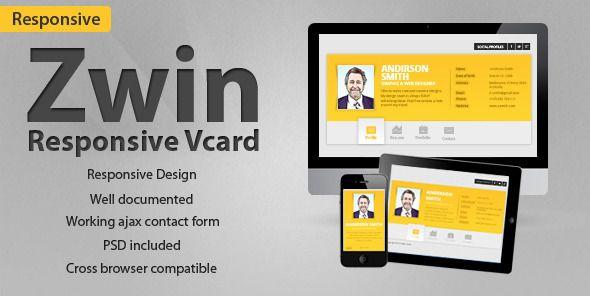 Zwin - Responsive Vcard Template