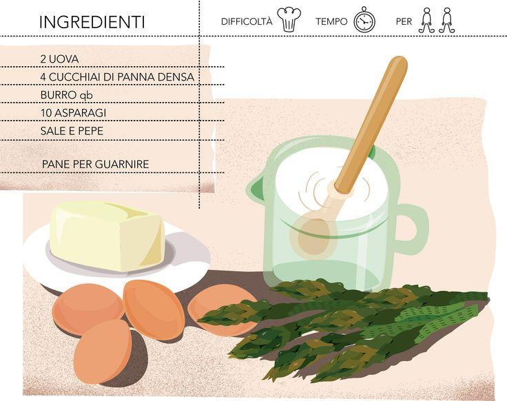 cocotte di uova e asparagi -ingredienti