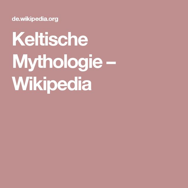 Keltische Mythologie – Wikipedia