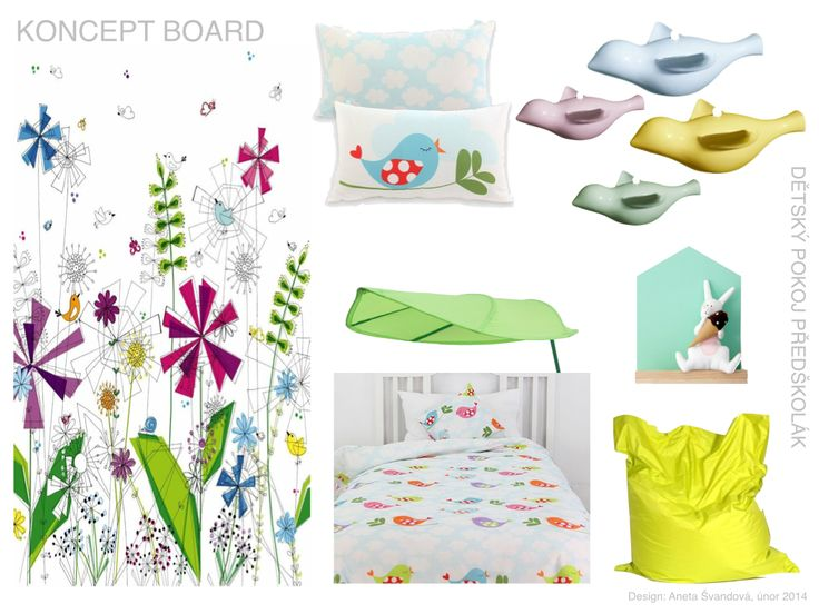 Children Kids room concept board by DesignAny