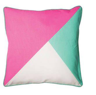 Tri-colour cushion