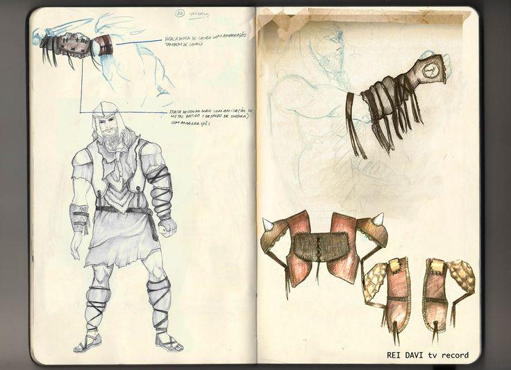 Criação e ilustração de armaduras - soldados de Davi