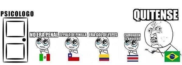Y seguimos con el tema del mundial. #Brasil #Mexico, #Chile, #Colombia y #CostaRica