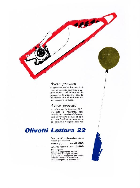 Olivetti Lettera 22 ad.