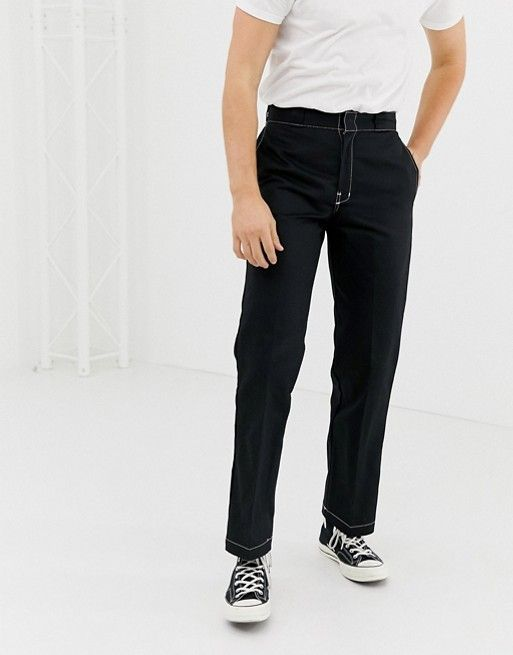 4cfdb5cfc391 Dickies 874 work pant chino with contrast stitch in black in 2019 ...