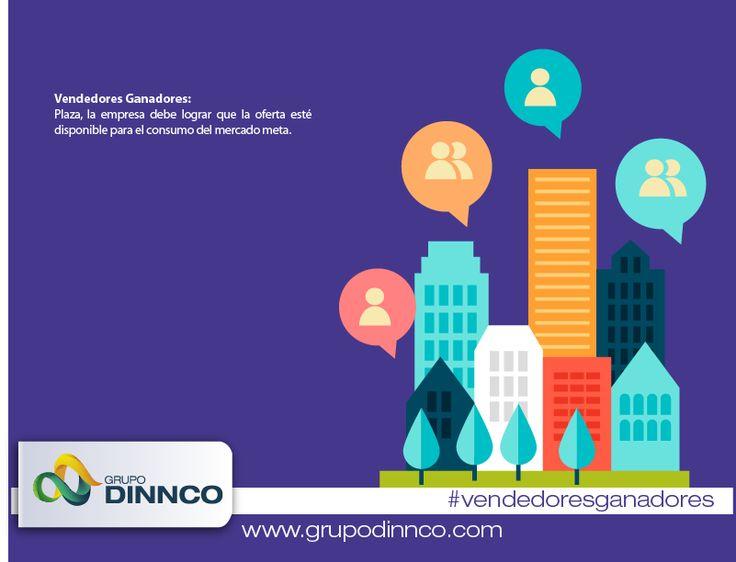 Vendedores Ganadores: Plaza, la empresa debe lograr que la oferta esté disponible para el consumo del mercado meta. #vendedoresganadores