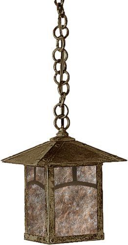 Arroyo Craftsman EH-7AAM-BZ Evergreen Collection 1-Light Exterior Hanging Lantern, Bronze Finish with Almond Mica Panels by Arroyo Craftsman. $246.00. From the Manufacturer                Arroyo Craftsman EH-7AAM-BZ Evergreen Collection 1LT Hanging Lantern features a Bronze finish and Classic Arch overlay with Almond Mica panels in a classic Craftsman design that will sure to enhance any decor for many years to come with the superior craftsmanship. Hang over a kitchen island f...