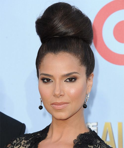 Roselyn Sanchez Updo - Straight Formal Hairstyle - Dark Brunette | TheHairStyler.com