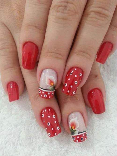 Unhas decoradas com flores 2014 - 05                                                                                                                                                                                 Mais