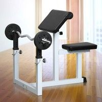 Wish | Fitness Preacher/Arm Curl Adjustable Weight Bench Attachment Dumbell Bicep