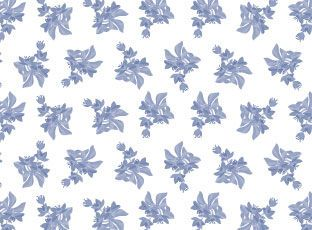 Pattern Blue fuchsia
