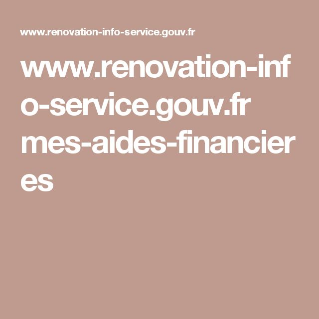 www.renovation-info-service.gouv.fr mes-aides-financieres