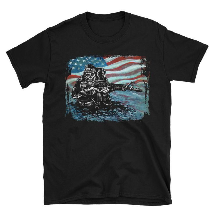 US Navy SEAL Shirt by David Lozeau | Day of the Dead