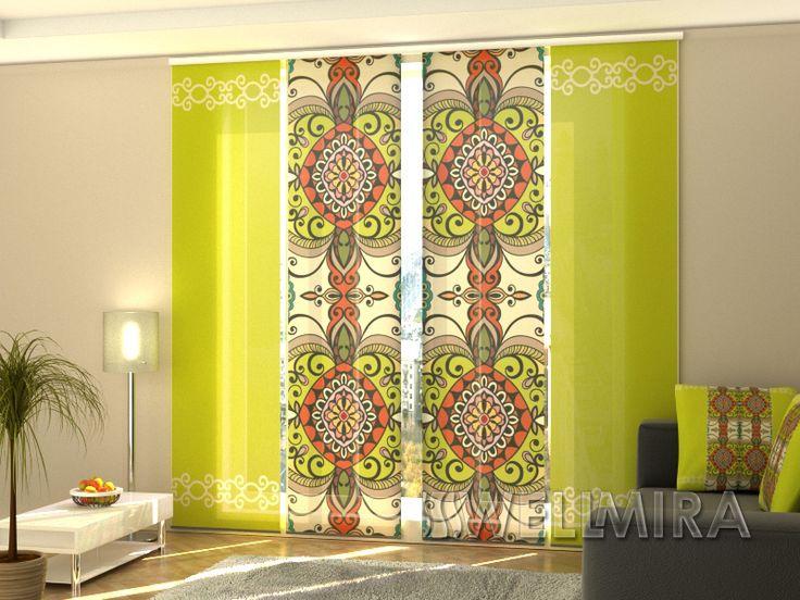 34 best schiebegardinen raumteiler panel curtain images on pinterest fl chenvorh nge. Black Bedroom Furniture Sets. Home Design Ideas