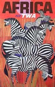 Africa Zebras // Free Vintage Posters, Vintage Travel Posters, Art Prints, Printables: